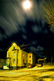 Whizzing Clouds Under Moonlight Royalty Free Stock Photography