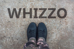 Whizzo, british slang for superb and excellent Stock Photography