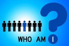 Who ben I? Royalty-vrije Stock Afbeelding
