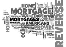 Who Can Benefit From A Reverse Mortgage Word Cloud Stock Image