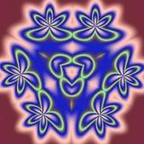 Who cares. Bright circular fractal floral kaleidoscope Stock Image