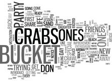 Who Are The Crabs In Your Life Word Cloud Royalty Free Stock Images