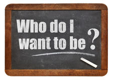 Who do I want to be? Stock Photo