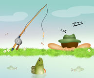 Who The early bird catches the fish. Illustration of who The early bird catches the fish Stock Photography