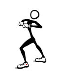 Stick Man: Dancing. Who got moves? Stick Man got moves Royalty Free Stock Photo