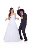 Who the guy did I marry? Royalty Free Stock Image
