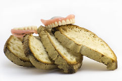 Who has bread has no teeth Stock Images