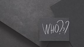 Who hire recruit human resources word chalk black. Who to hire. recruiting headhunting and human resources. word written in chalk on black background. copy space royalty free stock photos
