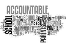 Who Holds The Schools Accountable Word Cloud Stock Photography