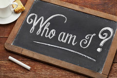 Who am I philosophical question Royalty Free Stock Photo