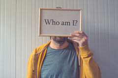Who am I, self-knowledge concept Royalty Free Stock Photography
