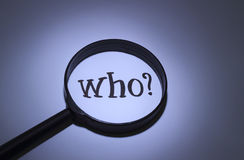 Who? Royalty Free Stock Photos