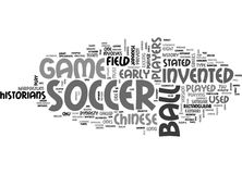 Who Invented Soccer Word Cloud Royalty Free Stock Photography