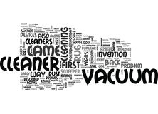 Who Invented The Vacuum Cleaner Word Cloud Stock Photo