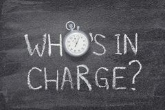 Free Who Is In Charge Watch Stock Photography - 114646972