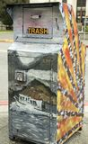 Color Anchorage Trash Container Royalty Free Stock Photography