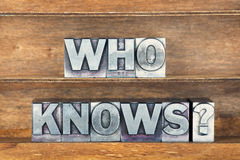 Who knows tray Royalty Free Stock Images