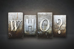Who? Letterpress Stock Images