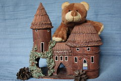Who lives in a mansion?. Handmade Castle Handmade clay toys stock photography