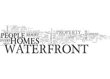 Who Lives In Waterfront Homes Word Cloud Royalty Free Stock Photography