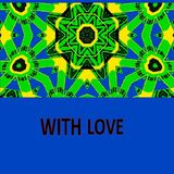 For those who love and who want to be loved by this pattern - a picture. royalty free illustration