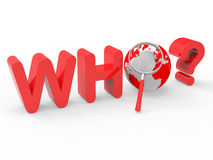 Who Magnifier Represents Question Magnification And Search Stock Images