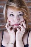 Who Me?. Seductive beauty gazing at you Stock Photos