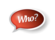 Who message bubble illustration design Royalty Free Stock Photography