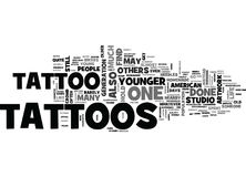 Who Is Most Likely To Get Tattoos Word Cloud Stock Images