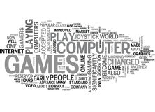 Who Plays Computer Games Word Cloud. WHO PLAYS COMPUTER GAMES TEXT WORD CLOUD CONCEPT Royalty Free Stock Image