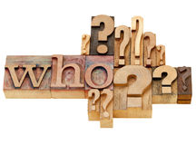 Who question abstract Stock Image