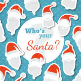 Who's your Santa? Stock Image