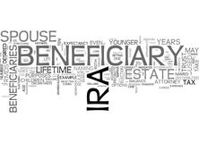 Who Should Be The Beneficiary Of Your Ira Word Cloud Royalty Free Stock Photos