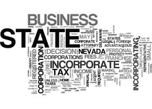 Who Should Incorporate Out Of State Word Cloud. WHO SHOULD INCORPORATE OUT OF STATE TEXT WORD CLOUD CONCEPT Royalty Free Stock Photos