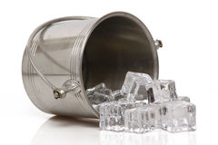 Who spilled the ice bucket? Stock Image