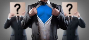Who is super businessman stock images