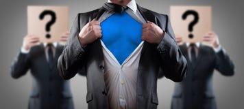 Who is super zakenman Stock Afbeeldingen