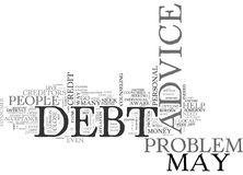 Who To Go To For Debt Advice Word Cloud Stock Image