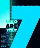 Who is u? Het van letters voorzien ontwerp Royalty-vrije Stock Foto