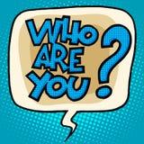 Who is u om bellen grappige teksten te vragen Stock Afbeeldingen