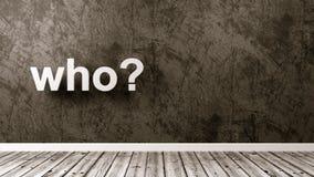 Who Vraag in de Zaal royalty-vrije illustratie