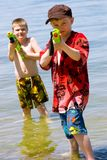 Who wants a water fight? Stock Image