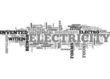 Who Was It That Invented Electricity Word Cloud Stock Photography