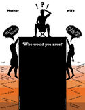 Who Would You Save, Mother or Wife? Illustration Royalty Free Stock Photo