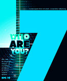 Who are you? Lettering design Royalty Free Stock Photo