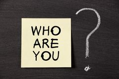Who Are You ? Royalty Free Stock Image