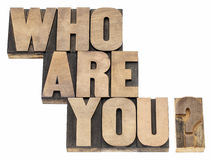 Who are you question Royalty Free Stock Photography