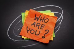 Who are you question Royalty Free Stock Image