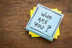 Who are you question on sticky note Royalty Free Stock Photos