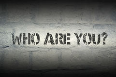 Who are you Royalty Free Stock Images